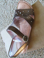 NEW BORN RENZI BROWN LEATHER SANDALS WOMENS 6 FREE SHIP
