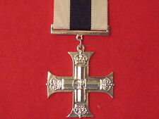 FULL SIZE MILITARY CROSS MC MEDAL GVI MUSEUM STANDARD COPY MEDAL WITH RIBBON.