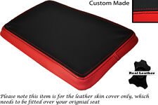 RED & BLACK CUSTOM FITS SUZUKI 350 GOOSE REAR SLIP ON LEATHER SEAT COVER ONLY