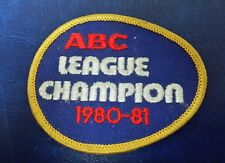 LEAGUE CHAMPION ABC 1980-81 PATCH