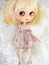 M-Style azone/licca/blythe size Doll Handmade Distressed style dress pink