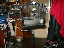 vintage antique crown bird cage with stand