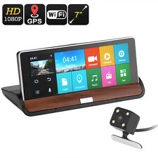 "Car DVR Kit - 7""  2 Cameras, GPS Navigation, Android OS, 1080p  , Google Play,"