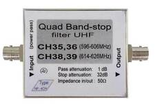 UHF- band-stop filter against interference TV quad, Quad Notch filter UHF