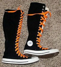 CONVERSE CT XX-Hi black white orange laces goth Halloween sneaker shoe boot 4 6