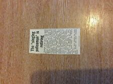 k1-1 ephemera 1961 article singing policeman john thompson retires kent