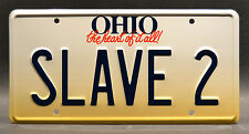 Fanboys / Star Wars / Boba Fett SLAVE 2 *STAMPED* Replica Prop License Plate