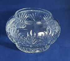 Beautiful Large Heavy Cut Glass / Crystal Bowl. Weight: 1.365 Kg