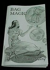 VINTAGE BAG MAGIC BOOK COTTON FEEDSACKS USES++