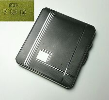 Art Deco Sterling silver Cigarette case Crisford and Norris Birmingham 1936