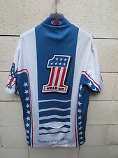 VINTAGE Maillot cycliste USA 1 HOLD UP HARCORE STUFF shirt trikot no rules 6 XXL