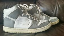 2002 NIKE DUNK HIGH WHITE METALLIC SILVER 305287-001 SIZE 12 WITH INSURANCE