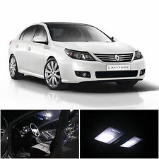 19x Xenon White LED Interior Light Package For Renault Latitude 2010-2014