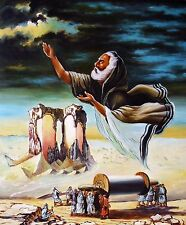"""Religious Oil Painting - """"Moses and His Tribe"""" Size:20""""x24"""""""