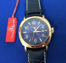 New Swiss Legend Executive watch Blue Leather Band Watch NEEDS BATTERY/ 5I