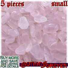 5 Small 10mm Combo Ship Tumbled Gem Stone Crystal Natural - Rose Quartz Pink