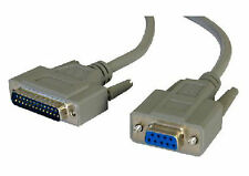 2 Metros Cable Serial D9 Hembra-D25 Pines Macho Cable Modem de9 Db25 Rs232 402