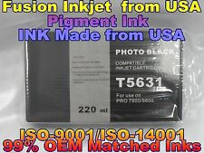 Epson Stylus Pro 7800 9800 Photo Black Pigment Ink phk cartridge not oem T5631