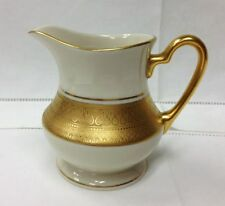"PICKARD ""CENTENNIAL"" CREAMER 3 5/8"" GOLD/IVORY PORCELAIN NEW MADE IN U.S.A."