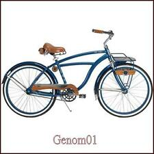"Men's Beach Cruiser Bike 26"" Town Retro Bicycle Front Rack Blue Huffy Cape Cod"