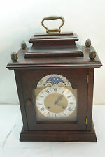 VINTAGE MANTLE CLOCK GERMANY BRACKET MOON PHASE WESTMINSTER CHIME WUERSCH