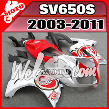 Welmoto Plastic Fairing For SV650S 2003-2012 ABS Bodywork 03-12 luckly Red #W13