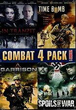 NEW 4FEATURE COMBAT  DVD // IN TRANZIT + TIME BOMB + GARRISON + SPOILS OF WAR