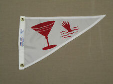 "Cocktail Martina Hand Indoor Outdoor Nylon Wall Boat Pennant Grommets 10"" X 15"""