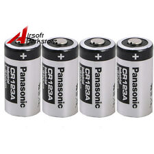 4X Panasonic CR123A 1400mAh 3V Lithium Battery Cell for Flashlight Camera