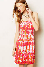 New Anthropologie Fresno Ikat Dress by Tabitha, Red, 14, removable Strape, $198