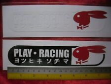 2 JDM PLAY RACING di-cut sticker decals, car detailing.