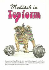 Pug Weightlifter M - German Dog Print - MATTED / NEW