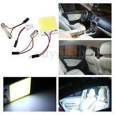 4W 12V T10 BA9S W5W C5W Feston Dôme Blanc 48 LED COB Chip Voiture Panneau Lampe