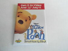 VINTAGE PROMO PINBACK BUTTON #90-209 - DISNEY - THE BOOK OF POOH