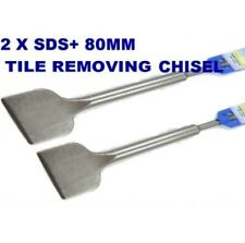 2 X NEW 80mm SDS+ TILE REMOVING CHISELS SDS PLUS
