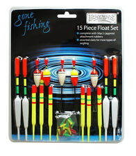 15 Piece Assorted Course Carp Fishing Float Tackle Set & Rubbers RY186