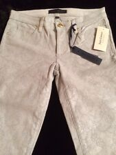Juicy Couture Skinny Smoke Grey Sparkle Coated Corduroys Size 26 New! $178