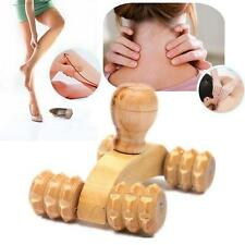 Wooden Car Roller Massage Reflexology Hand Foot Back Body Therapy Relaxing Gifts