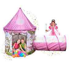 Fairy Tale Castle Tent Portable Princess Kids Fun Play House Party Room Outdoor