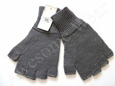 New Ralph Lauren RRL 100% Wool Faded Blue/greyish  Fingerless Gloves One Size