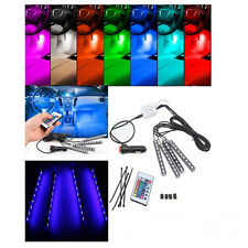 9LED Remote Control Colorful RGB Car Auto Interior Floor Decorative Lights Strip