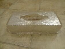 Vintage Celebrity Lucite Plastic Tissue Kleenex Box Starburst Hollywood Regency