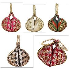 Wholesale assorted 10 pc brocade Wedding Party potli bag Indian handmade clutch