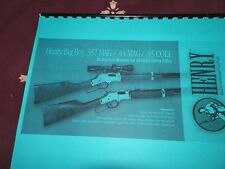 HENRY, Big Boy, .357mag/ .44mag/ .45colt  Instruction Manual,   21 Pages