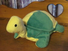 """RARE 1996 TY Pillow Pals SNAP Green & Yellow Plush TURTLE 12"""" Retired"""