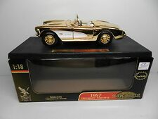Road Signature Yat Ming 1:18 Scale 1957 CHEVROLET CORVETTE 24k Plated Diecast