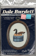 "1985 Dale Burdett Country Cross Stitch Kit #CK212 ""Canadian Goose on Shaker Box"""