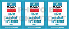 Dodge Van Parts Book 1978 1979 1980 1981 Pickup Power Wagon Little Red Express