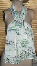 Long Sash Scarf  55 Inch Trevi Fountain Colosseum Spanish Steps Rome Italy
