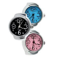 Fingeruhr Ringuhr Fingerring Uhr Quarzuhr Damenuhr Farbe: Blau FU-0316.2